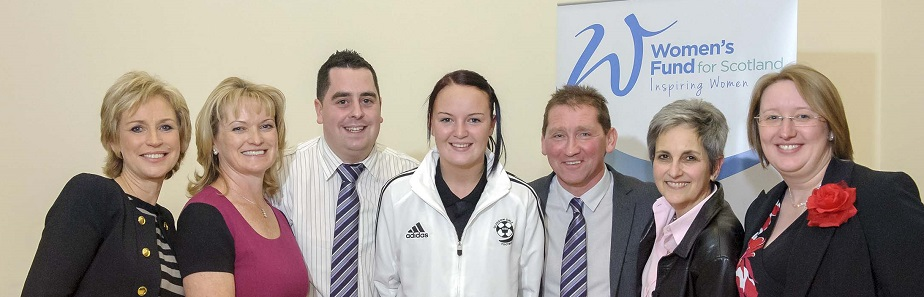 Glasgow Girls FC with WFS and Sally