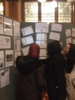 Women looking at a notice board